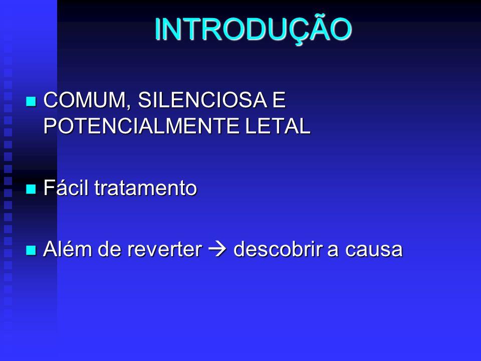 INTRODUÇÃO COMUM, SILENCIOSA E POTENCIALMENTE LETAL Fácil tratamento