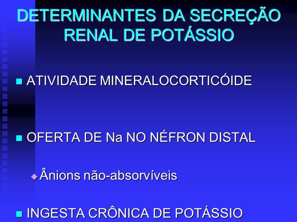 DETERMINANTES DA SECREÇÃO RENAL DE POTÁSSIO