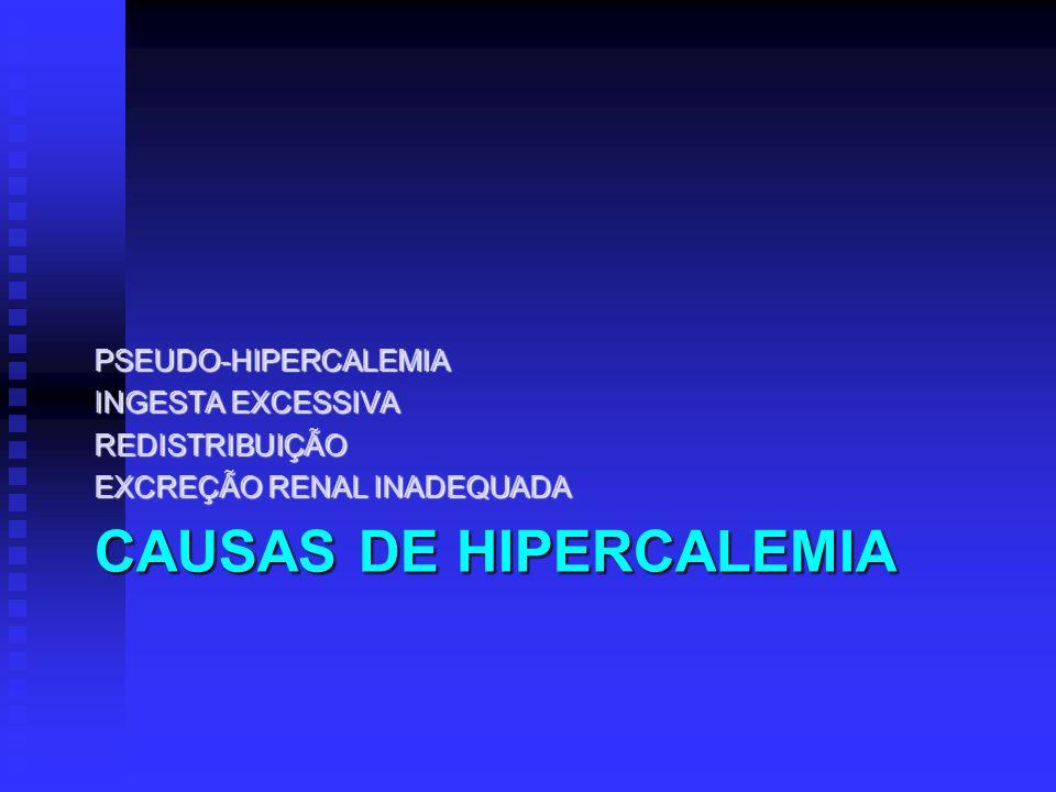 CAUSAS DE HIPERCALEMIA