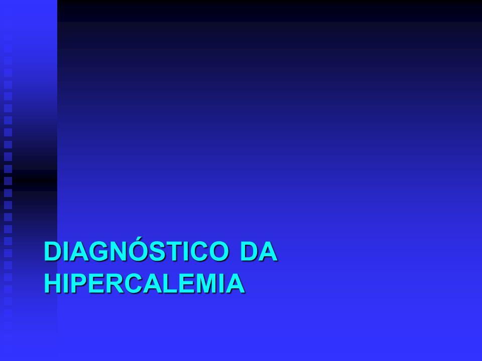 DIAGNÓSTICO DA HIPERCALEMIA