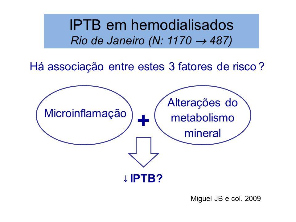+ IPTB em hemodialisados Rio de Janeiro (N: 1170  487)