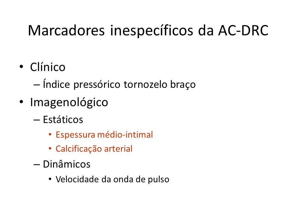 Marcadores inespecíficos da AC-DRC