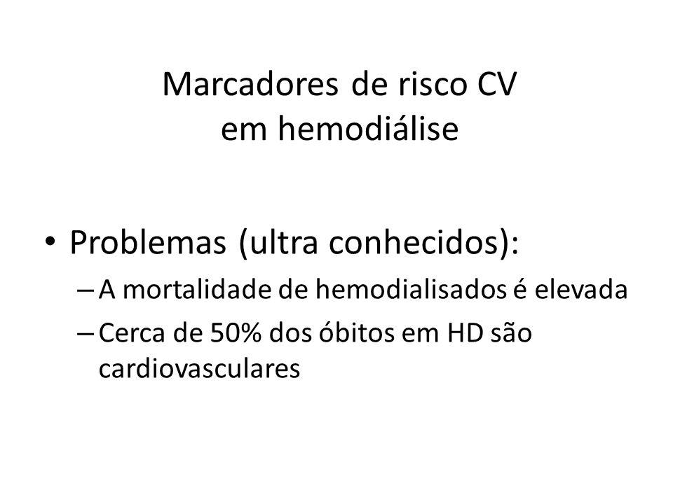 Marcadores de risco CV em hemodiálise