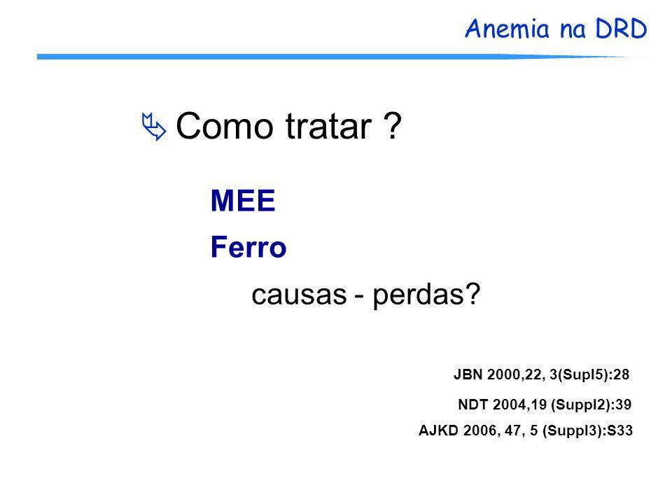 Como tratar MEE Ferro causas - perdas JBN 2000,22, 3(Supl5):28