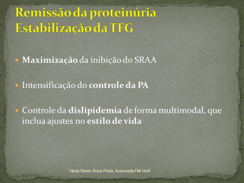 Remissão da proteinúria Estabilização da TFG