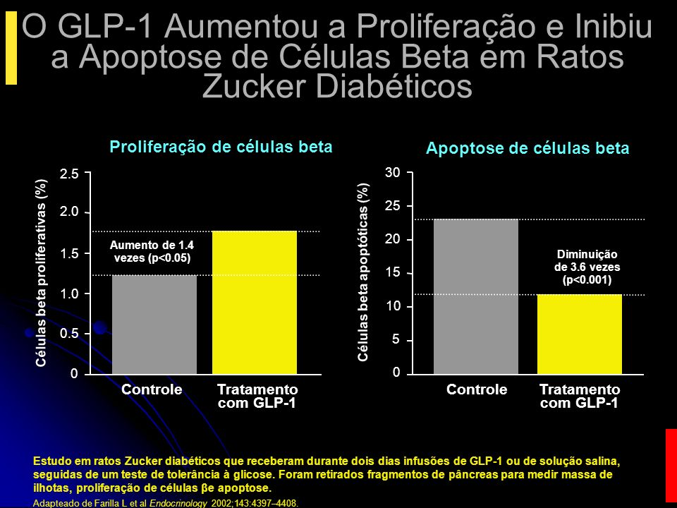 O GLP-1 Aumentou a Proliferação e Inibiu a Apoptose de Células Beta em Ratos Zucker Diabéticos