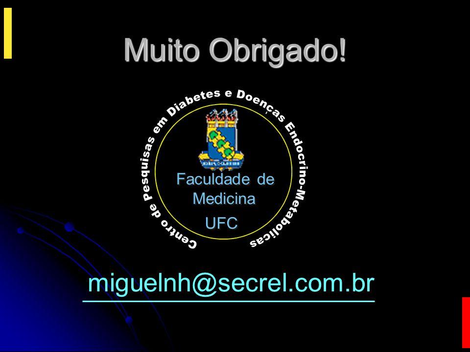 Muito Obrigado! miguelnh@secrel.com.br Faculdade de Medicina UFC b c D