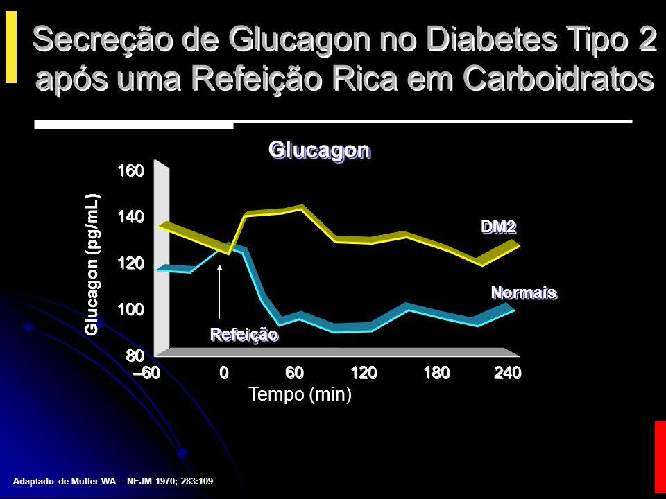 Secreção de Glucagon no Diabetes Tipo 2 após uma Refeição Rica em Carboidratos