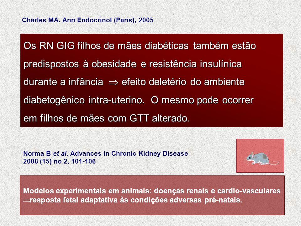 Os RN GIG filhos de mães diabéticas também estão