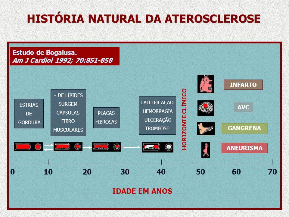 HISTÓRIA NATURAL DA ATEROSCLEROSE