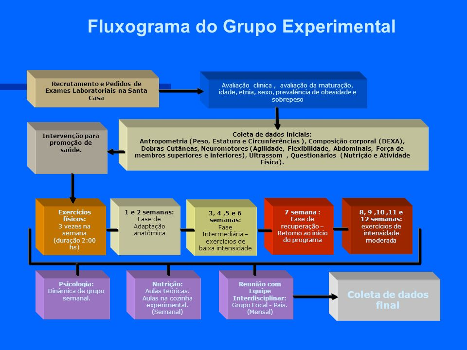 Fluxograma do Grupo Experimental