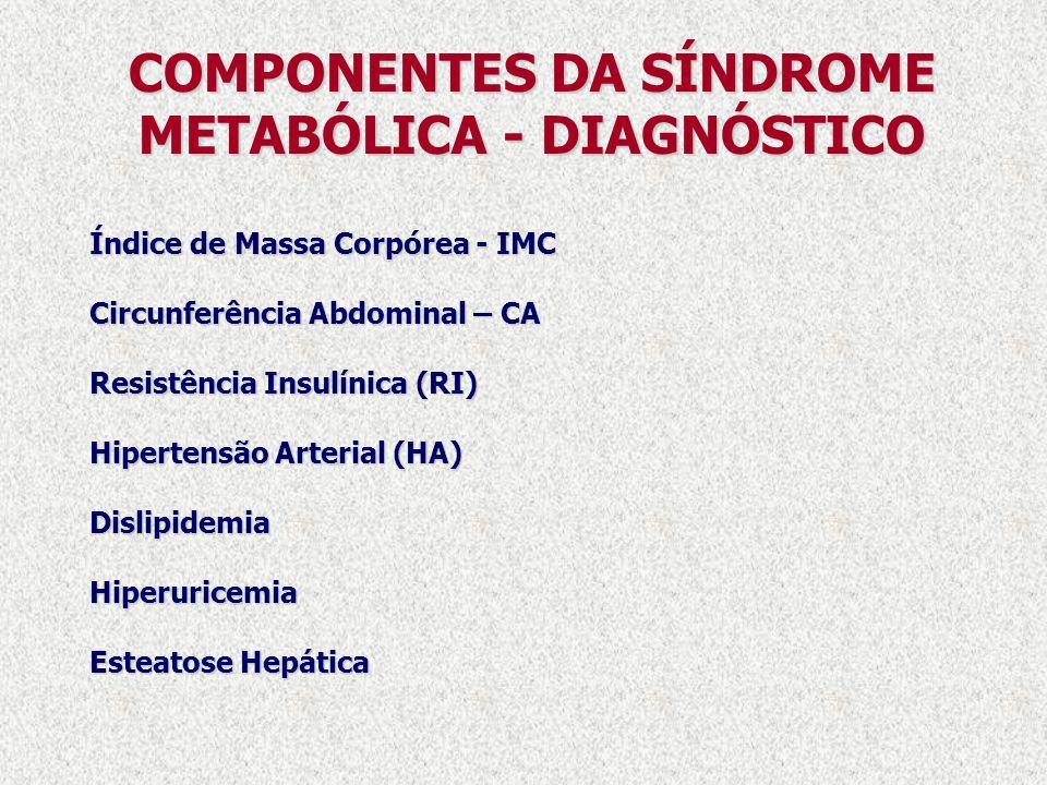 COMPONENTES DA SÍNDROME METABÓLICA - DIAGNÓSTICO