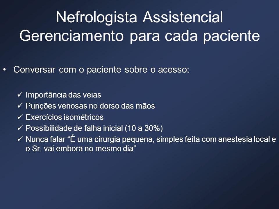 Nefrologista Assistencial Gerenciamento para cada paciente