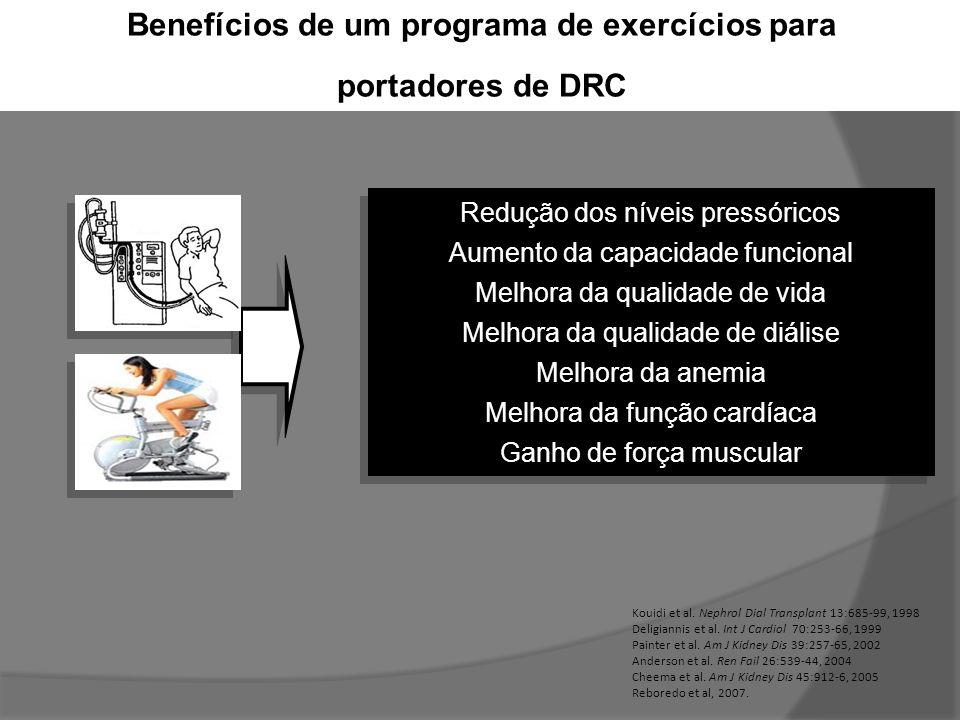 Benefícios de um programa de exercícios para