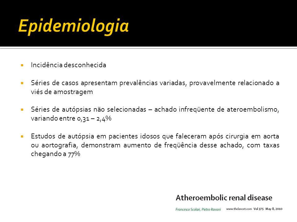 Epidemiologia Incidência desconhecida
