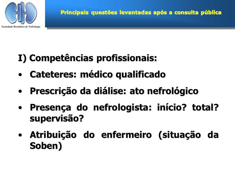 Principais questões levantadas após a consulta pública