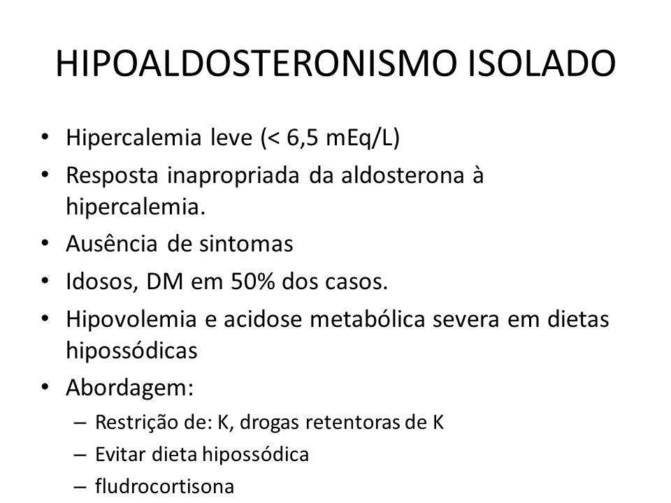 HIPOALDOSTERONISMO ISOLADO