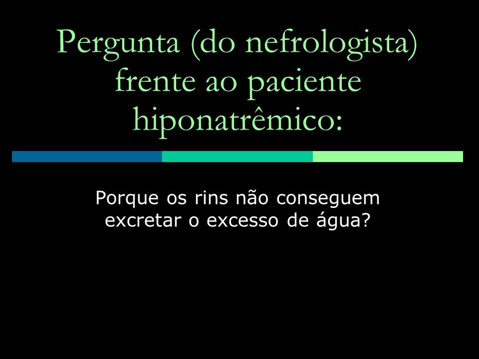Pergunta (do nefrologista) frente ao paciente hiponatrêmico: