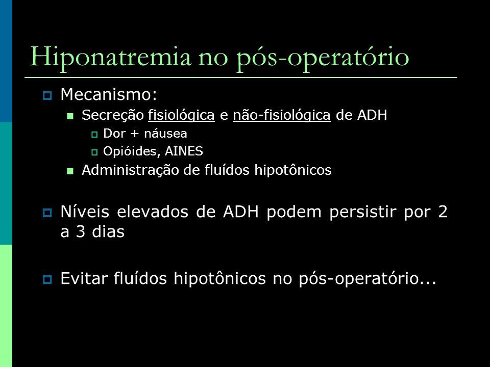 Hiponatremia no pós-operatório