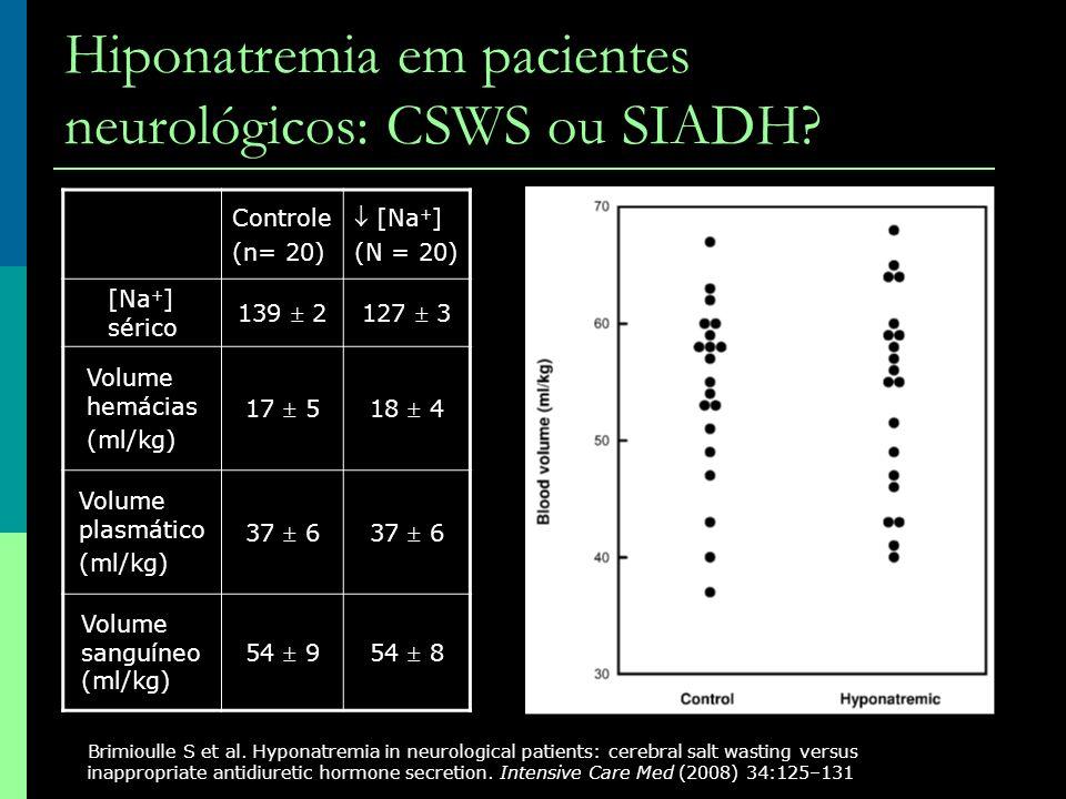 Hiponatremia em pacientes neurológicos: CSWS ou SIADH