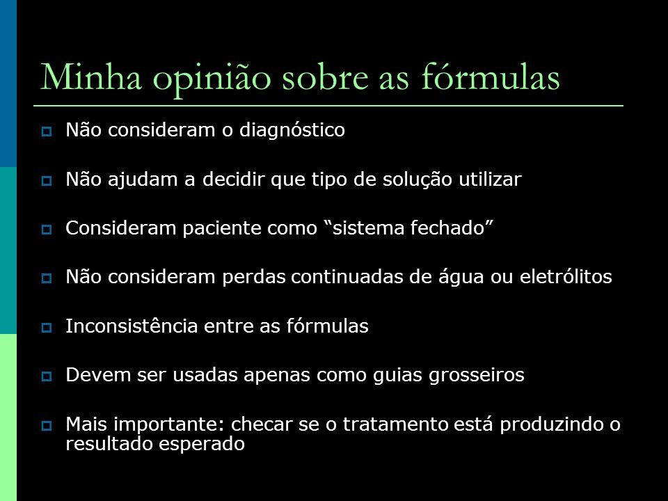 Minha opinião sobre as fórmulas