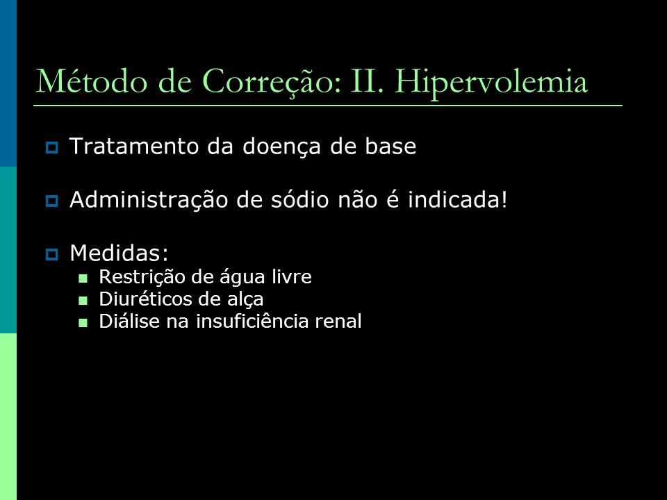 Método de Correção: II. Hipervolemia