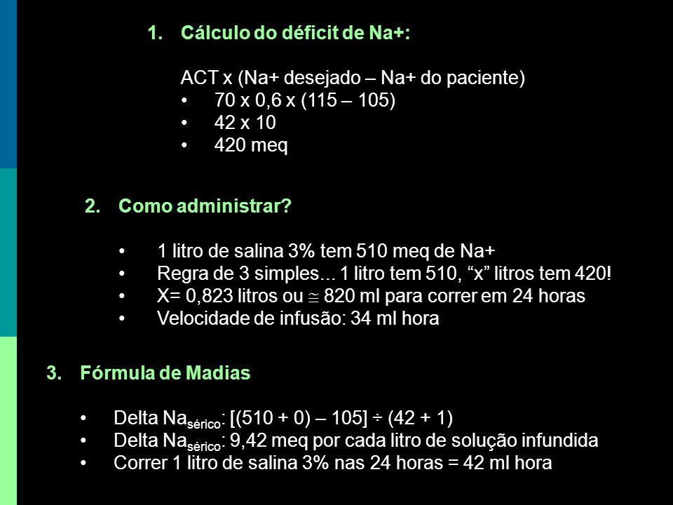 Cálculo do déficit de Na+: