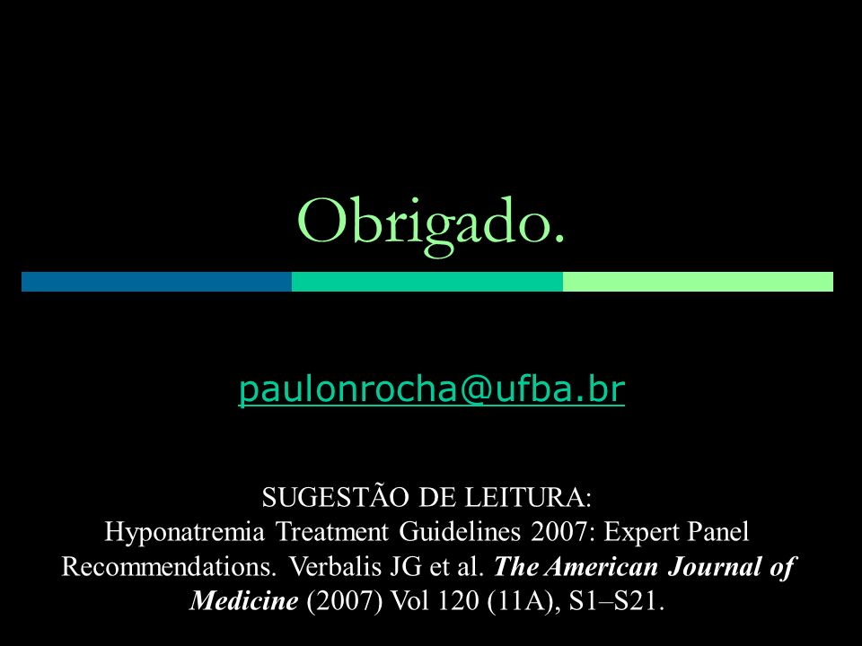 Obrigado. paulonrocha@ufba.br SUGESTÃO DE LEITURA: