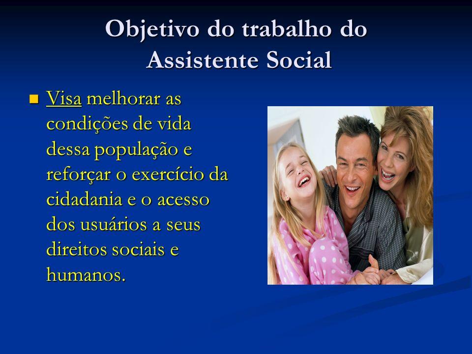 Objetivo do trabalho do Assistente Social
