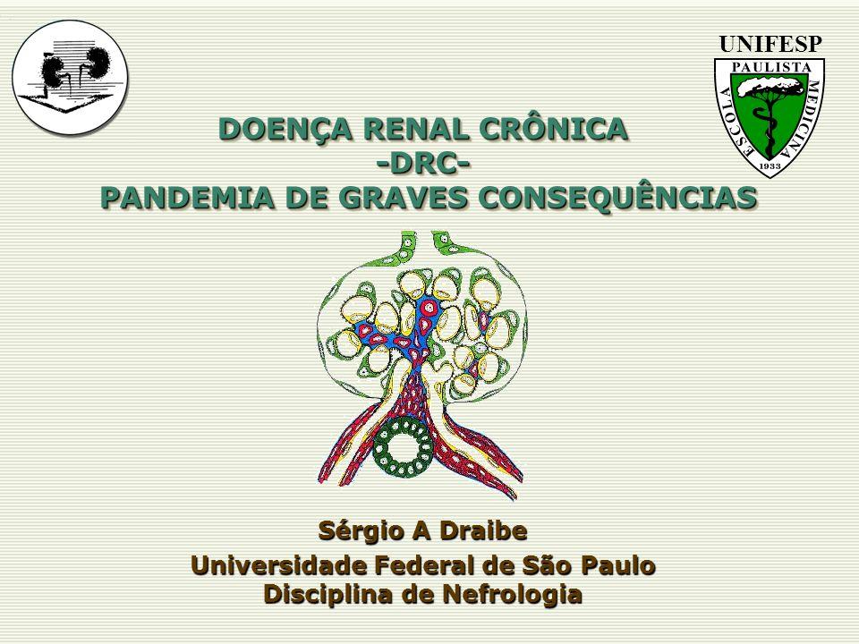 DOENÇA RENAL CRÔNICA -DRC- PANDEMIA DE GRAVES CONSEQUÊNCIAS