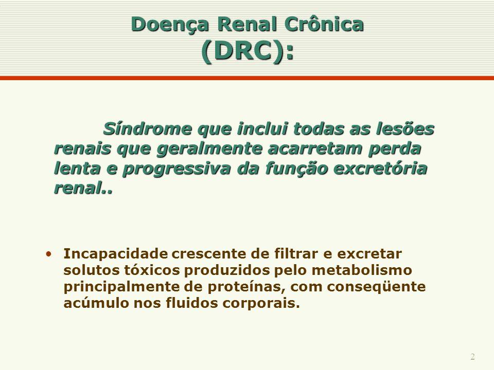 Doença Renal Crônica (DRC):