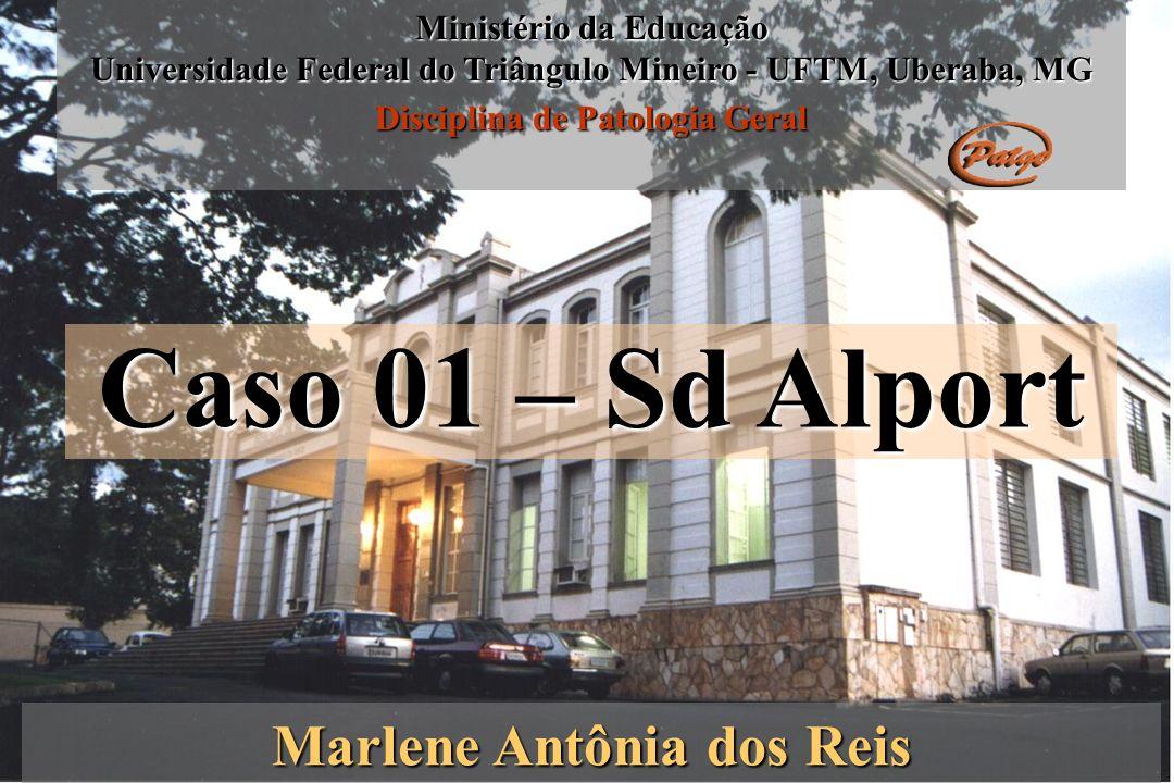 Caso 01 – Sd Alport Marlene Antônia dos Reis Ministério da Educação