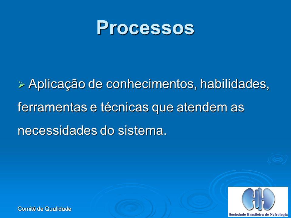 Processos Aplicação de conhecimentos, habilidades,