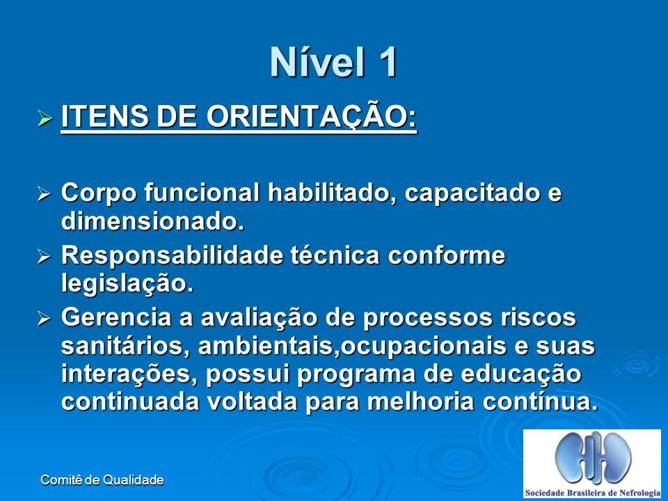 Nível 1 ITENS DE ORIENTAÇÃO: