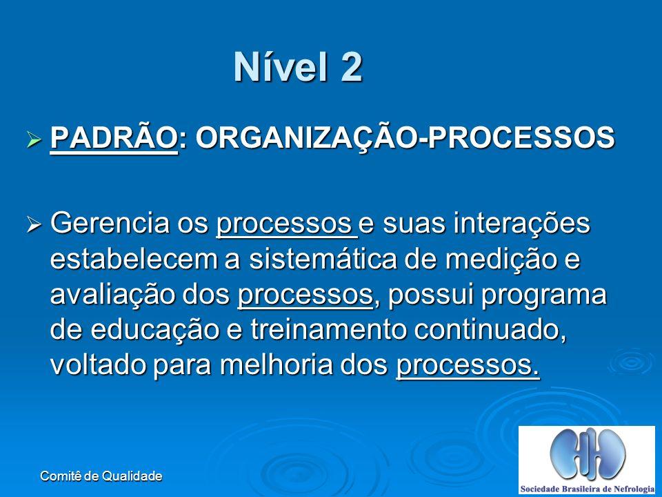 Nível 2 PADRÃO: ORGANIZAÇÃO-PROCESSOS