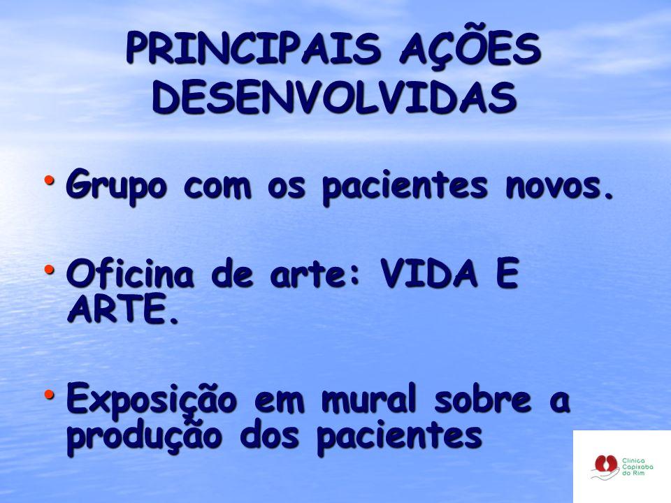 PRINCIPAIS AÇÕES DESENVOLVIDAS