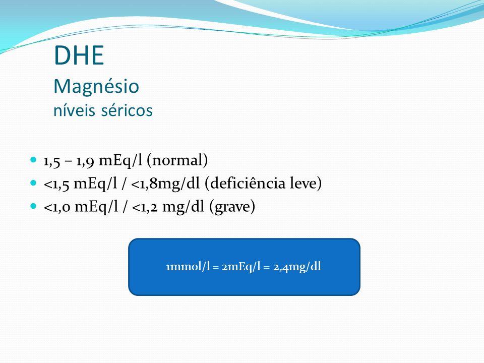 DHE Magnésio níveis séricos
