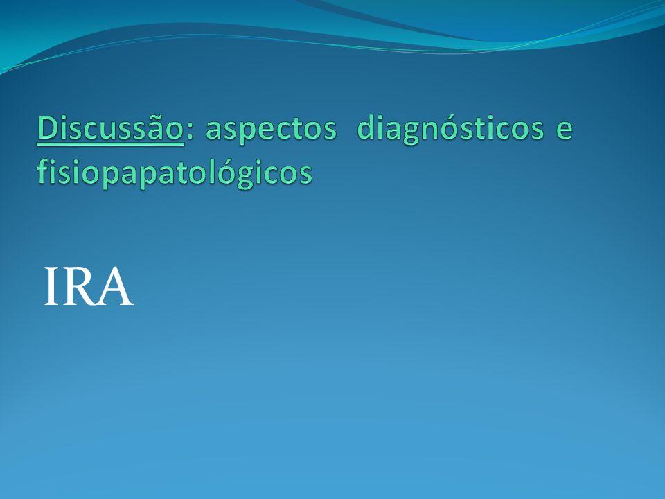 Discussão: aspectos diagnósticos e fisiopapatológicos