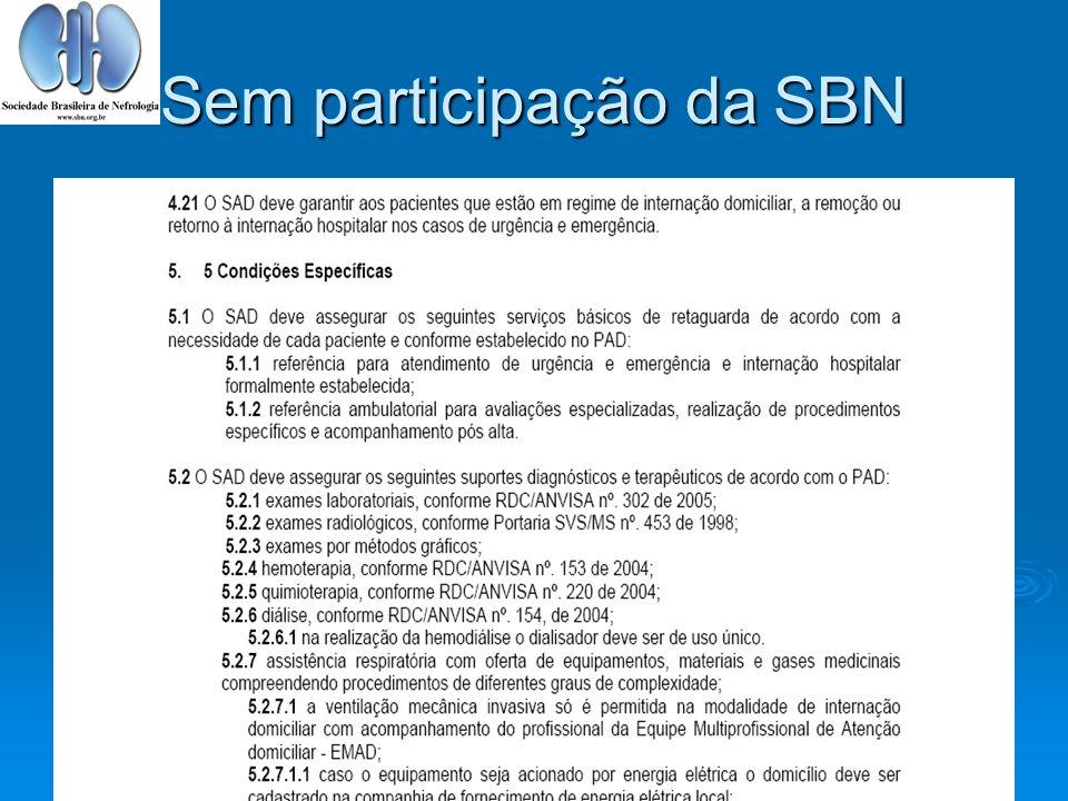 Sem participação da SBN