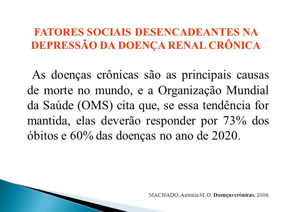 FATORES SOCIAIS DESENCADEANTES NA DEPRESSÃO DA DOENÇA RENAL CRÔNICA