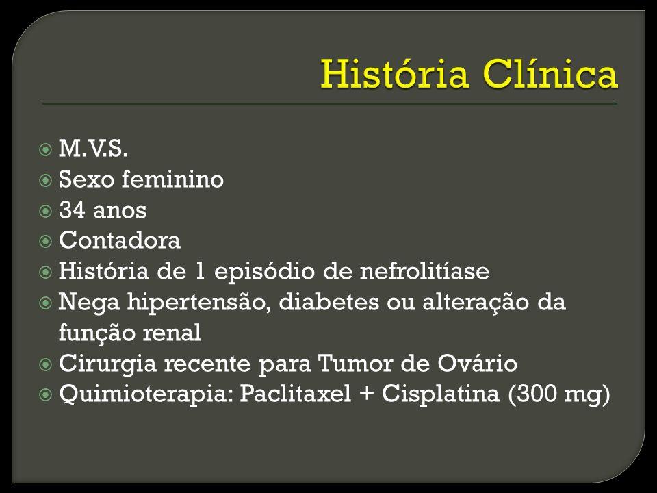 História Clínica M.V.S. Sexo feminino 34 anos Contadora