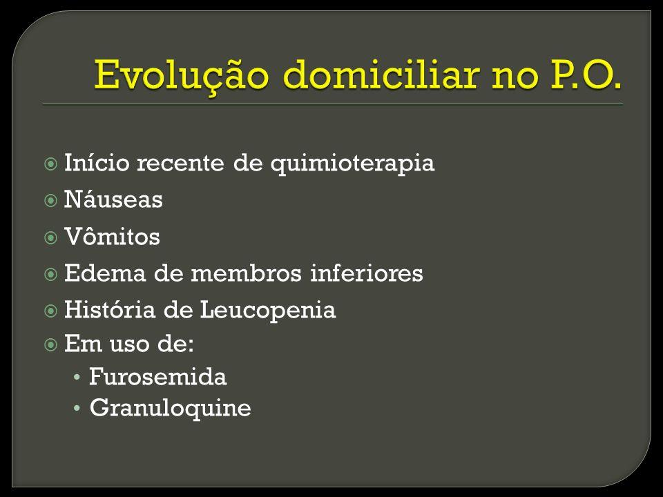 Evolução domiciliar no P.O.
