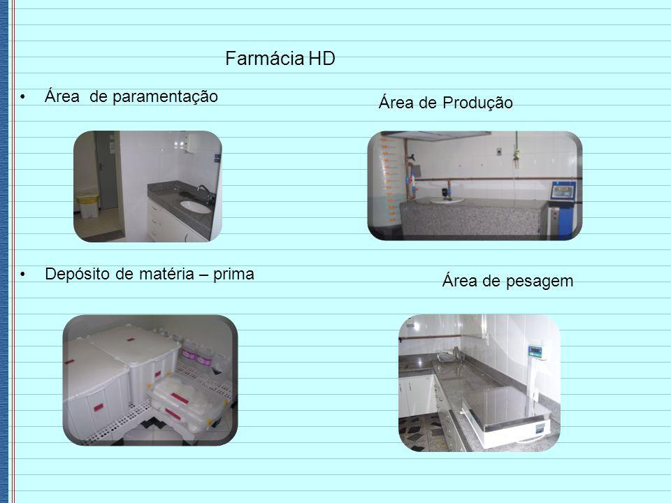 Farmácia HD Área de paramentação Área de Produção