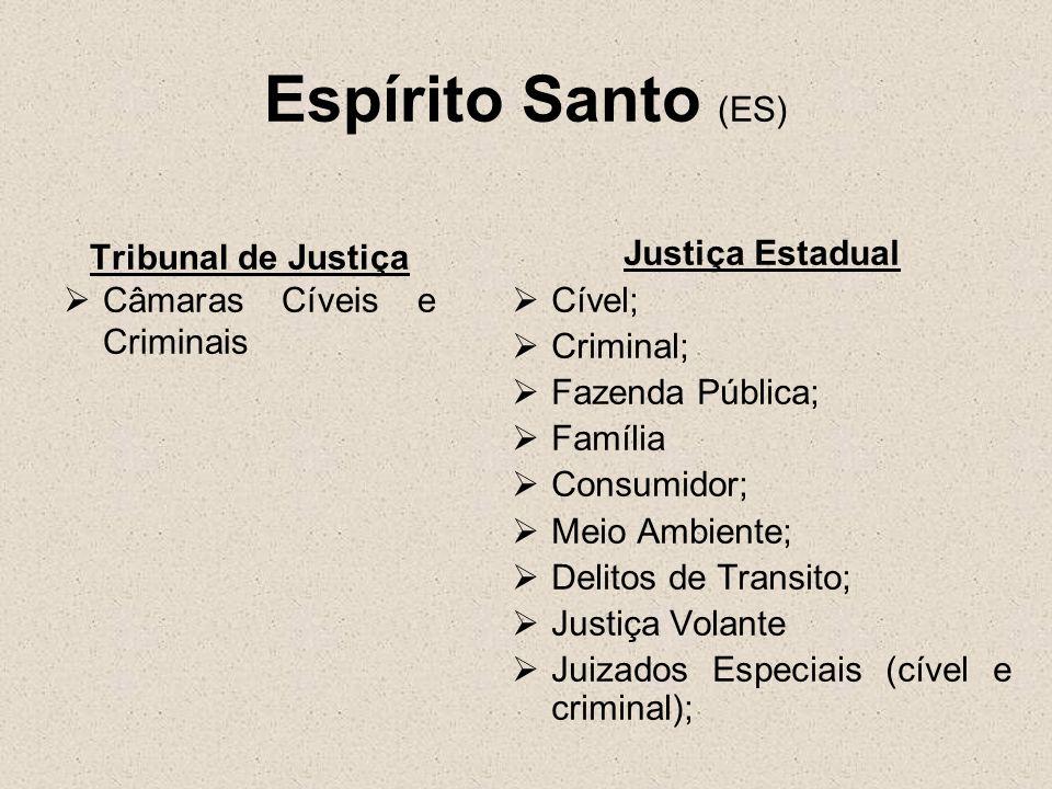 Espírito Santo (ES) Tribunal de Justiça Câmaras Cíveis e Criminais