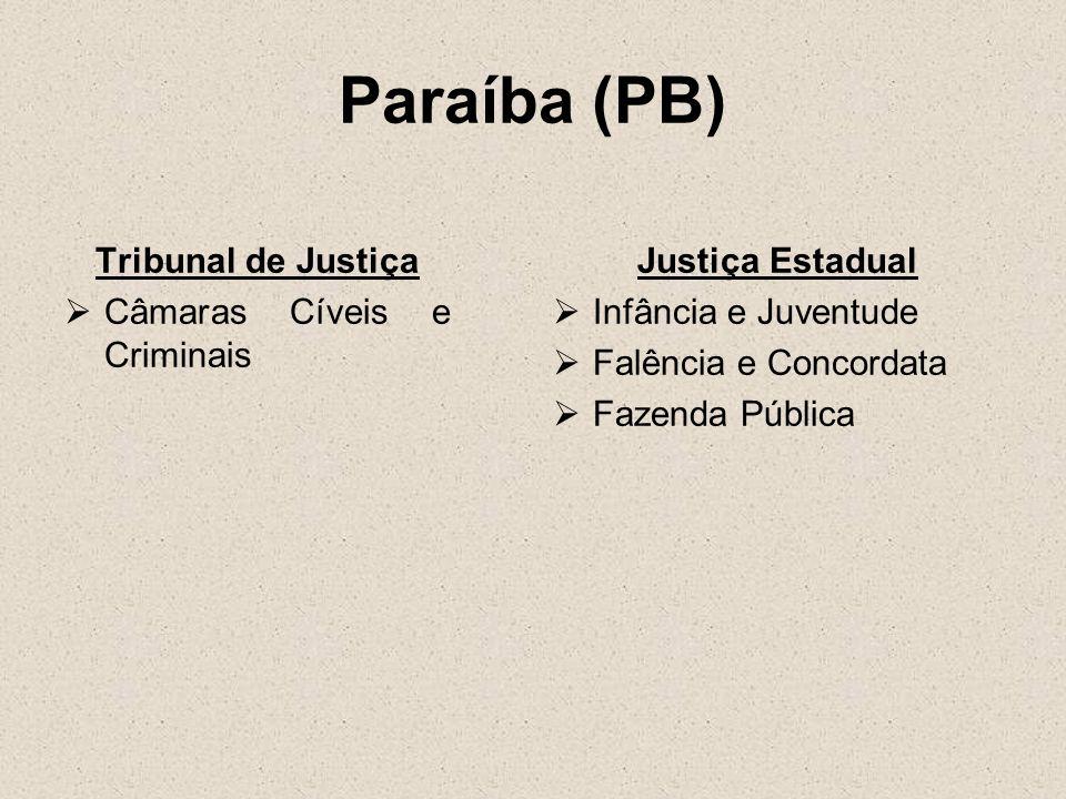 Paraíba (PB) Tribunal de Justiça Câmaras Cíveis e Criminais