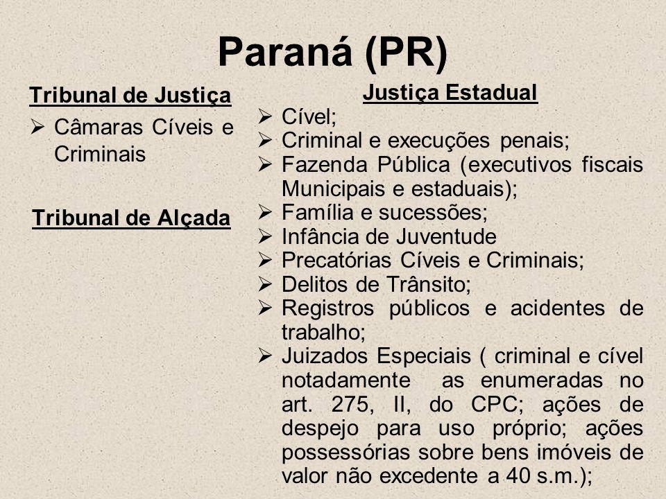 Paraná (PR) Tribunal de Justiça Câmaras Cíveis e Criminais