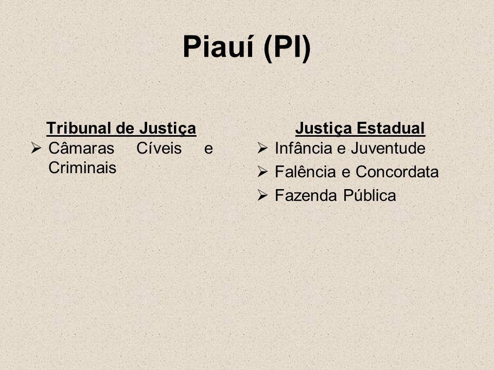 Piauí (PI) Tribunal de Justiça Câmaras Cíveis e Criminais