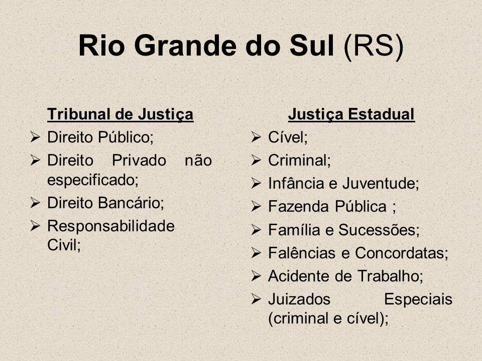 Rio Grande do Sul (RS) Tribunal de Justiça Direito Público;