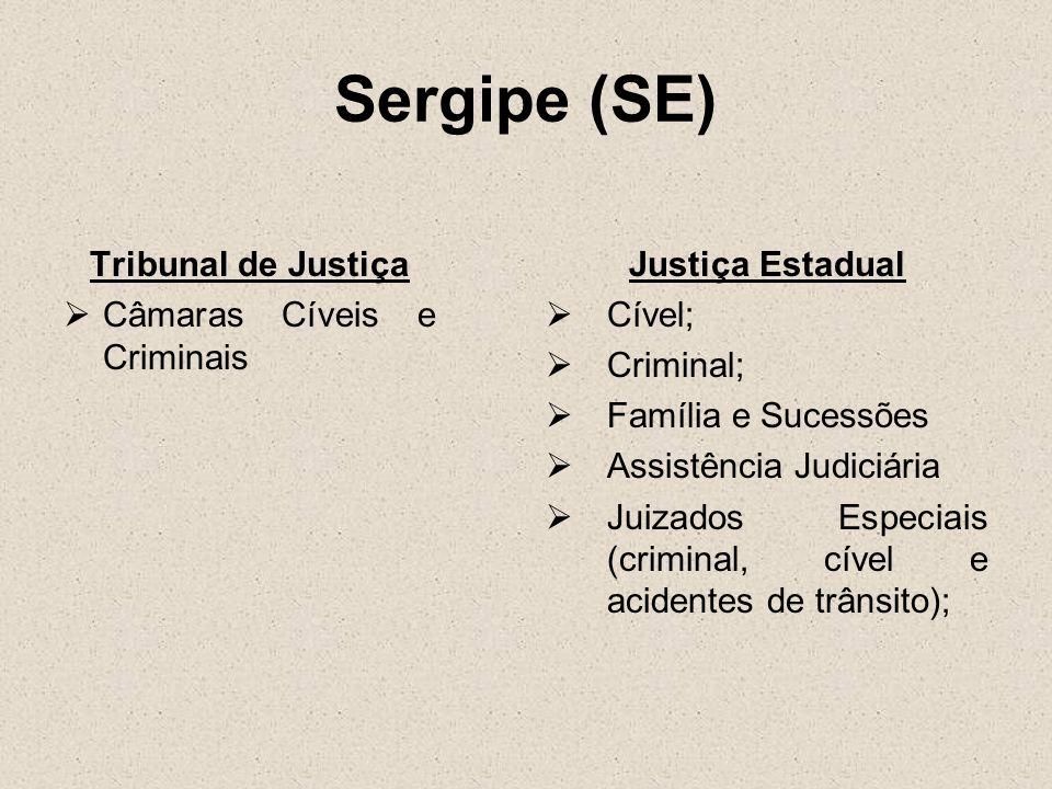 Sergipe (SE) Tribunal de Justiça Câmaras Cíveis e Criminais