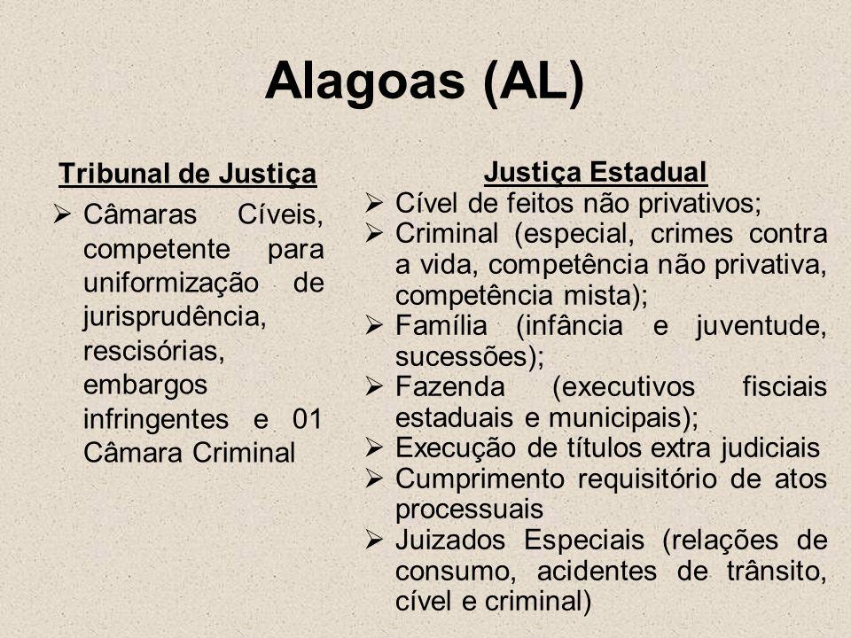Alagoas (AL) Tribunal de Justiça Justiça Estadual